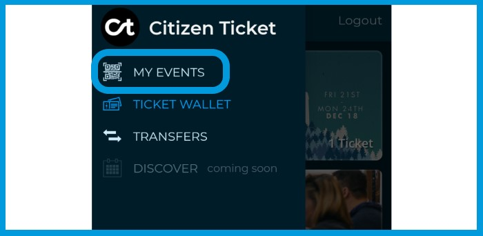 Citizen Ticket Event Chatroom - my events