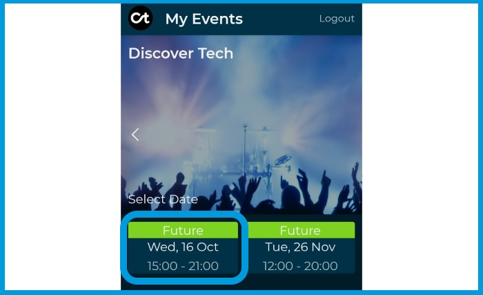 Citizen Ticket Event Chatroom - select dates