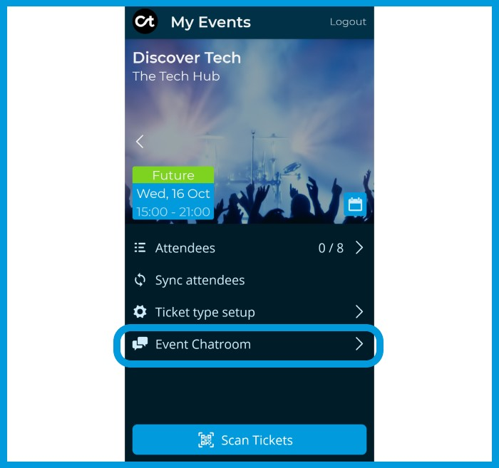 Citizen Ticket Event Chatroom - event chatroom