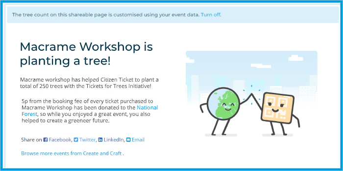Citizen Ticket - Tickets For Trees - event sharing